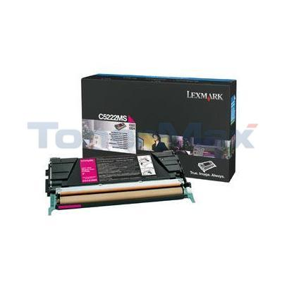 LEXMARK C524 TONER CARTRIDGE MAGENTA 3K